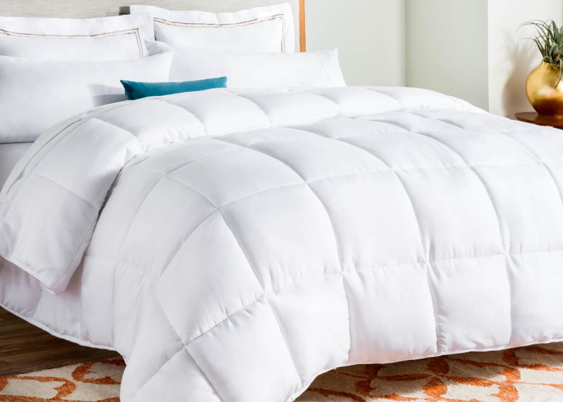 LINENSPA White Goose Down Alternative Quilted Comforter