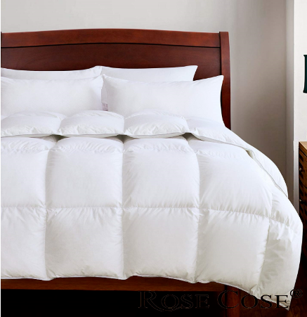 ROSECOSE Luxurious Goose Down Comforter Queen Duvet
