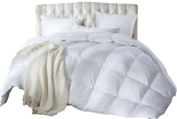 luxurious full-queen size siberian goose down comforter